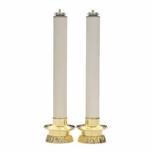 Candelieri metallo: Completo 2 pezzi candelieri e finte candele