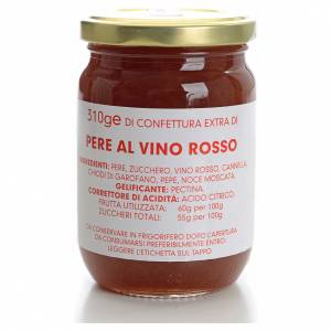 Confettura pere al vino rosso 310 gr Monastero Carmelitane s1