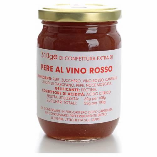 Confiture poires et vin rouge 310 g Carmélites s1