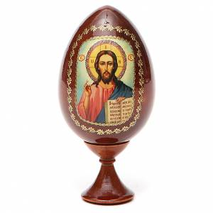 Huevos rusos pintados: Ícono Cristo Pantocrátor estampa