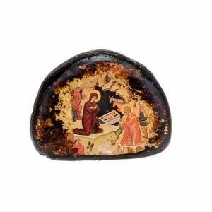 Íconos estampados madera y piedra: Ícono estampada piedra escenas