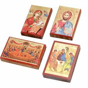 Íconos estampados madera y piedra: Íconos estampados Jesús, María,
