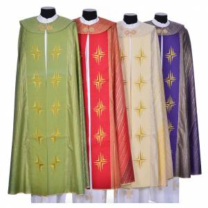 Copes, Roman Chasubles and Dalmatics: Cope in pure virgin wool with twisted thread, crosses