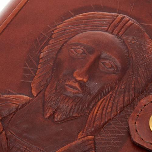 Copertina 4 vol. vera pelle volto di Cristo s3