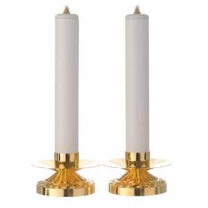 Candelieri metallo: Coppia di candelieri ottone candela pvc e cartuccia