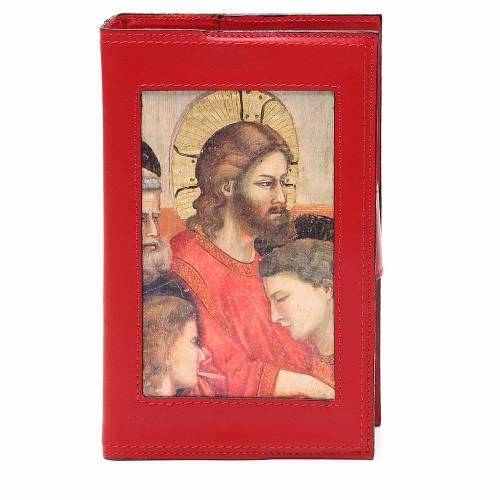 Copribreviario 4 vol. pelle rossa Giotto Ultima Cena Pictografia s1