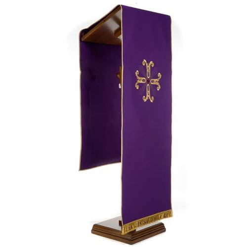 Coprileggio croce dorata perlina vetro s6