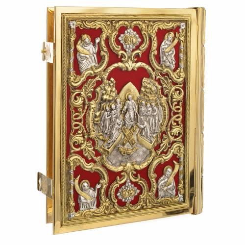 Coprilezionario ottone dorato Gesù Crocifisso s2
