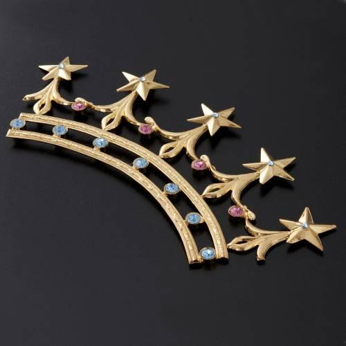 Corona in ottone filigrana oro s3
