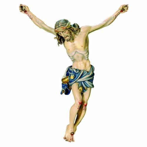 Corps du Christ drap nuances or bleu bois peint s1