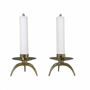 Couple of complete orthodox candle holders s1