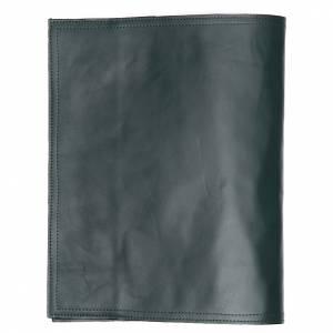 Couverture lectionnaire des Saints Alpha Oméga vert cuir s2