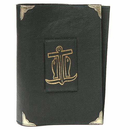 Couverture lectionnaire semaine et férié cuir vert Ancre du Salut s1