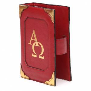 Couverture Lit. Heures 4 vol. cuir rouge Alpha Oméga aimant s2