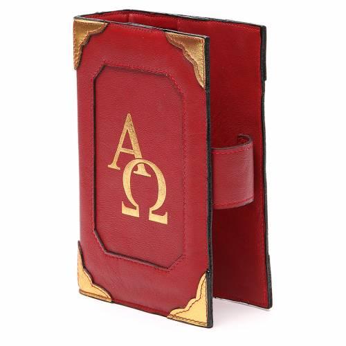 Couverture Lit. Heures 4 vol. cuir rouge Alpha Oméga aimant 2