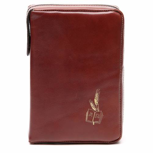 Couverture Missel Quotidien Grand cuir brun Alpha Oméga s1