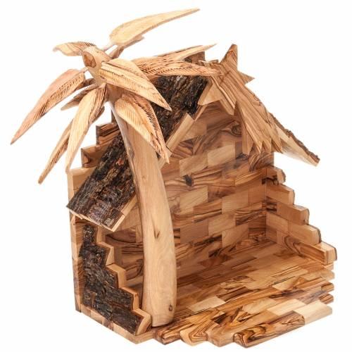 Crèche bois d'olivier de Bethléem cm 14 s6
