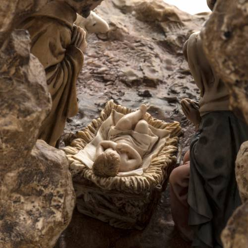 Crèche Noel Landi complète avec grotte 11 cm s6