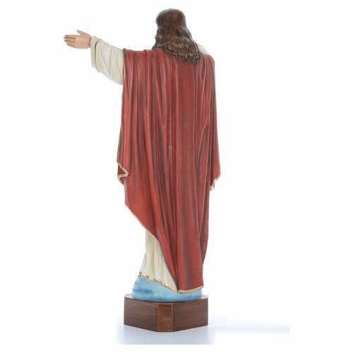 Cristo Redentor 100 cm belén fibra de vidrio coloreada s4