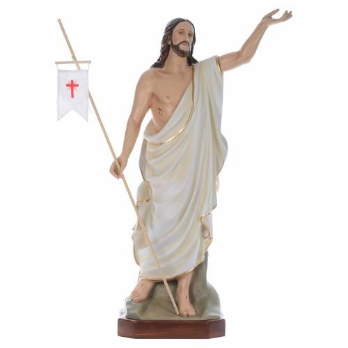 Cristo Resucitado 130 cm belén fibra de vidrio coloreada s1
