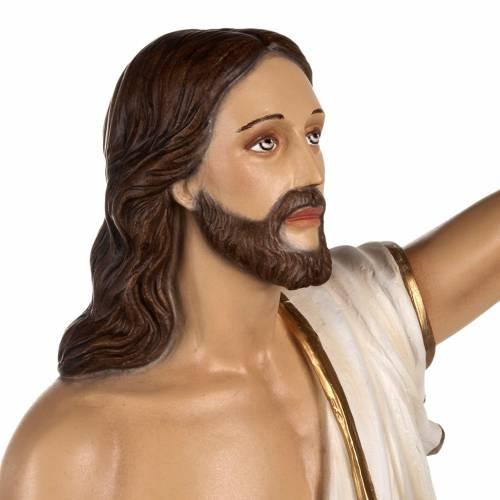 Cristo resucitado 85 cm fibra de vidrio s8