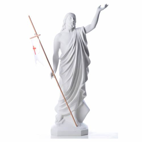 Cristo resucitado polvo de mármol de Carrara 100 cm s1