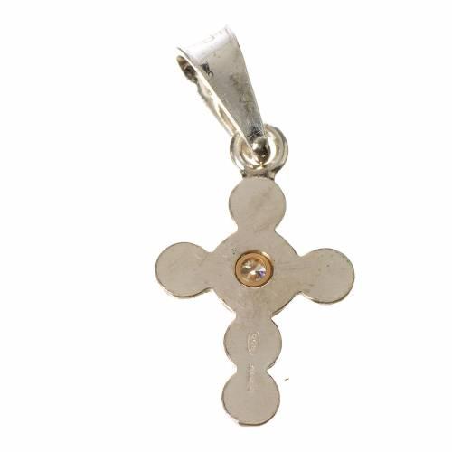 Croce a sfere Argento e zircone s2
