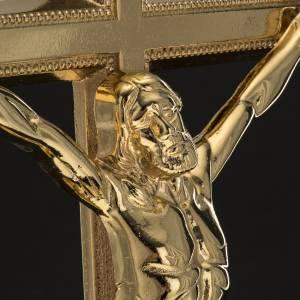 Croce da mensa e coppia candelieri ottone 53x30 cm s3