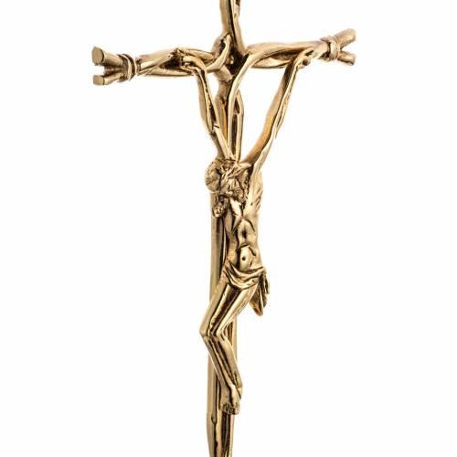 Croce da mensa stilizzata ottone s4