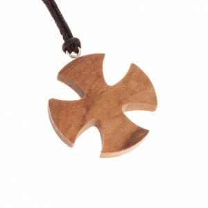 Pendenti croce legno: Croce di Malta olivo 3,5x3,5