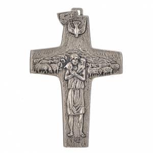 Articoli vescovili: Croce Papa Francesco 11x7 cm metallo