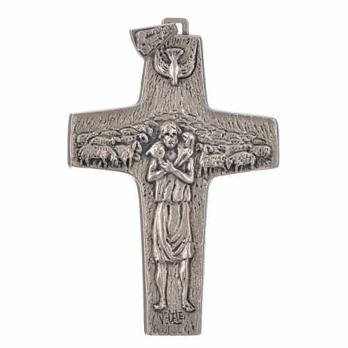 Croce Papa Francesco 11x7 cm metallo s1