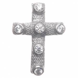 Pendenti, croci, spille, catenelle: Croce pendente Argento 925 e zirconi bianchi 2x1,5 cm