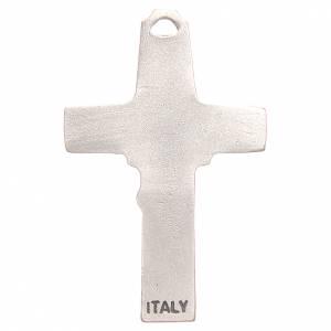Croce pendente pastore pecora galvanica argento antico s2