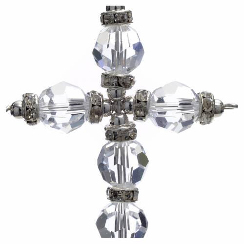 Croce Swarovski bianco s2