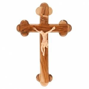 Croce Terrasanta ulivo naturale trilobata Israele s1