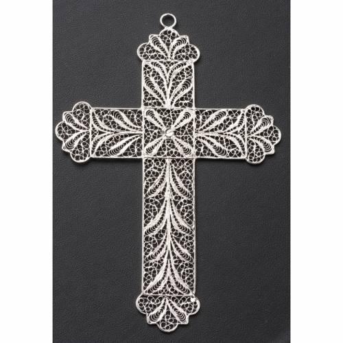 Croce vescovile arg. 800 filigrana s6