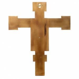 Crocifisso Cimabue in legno dipinto s4