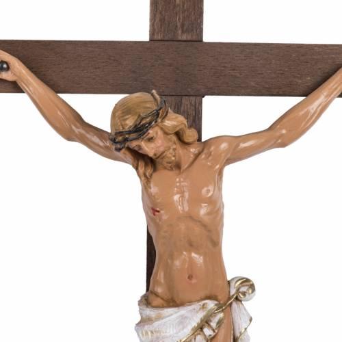 Crocifisso Fontanini croce legno 38x22 corpo pvc s2