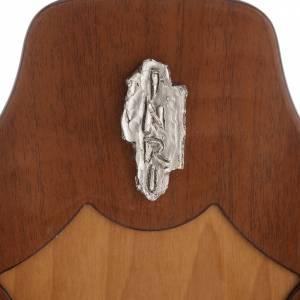 Crocifisso legno di mogano corpo metallo argentato s3