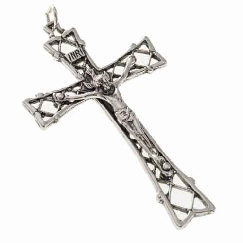 Croix argent 925 percée 5.5 cm s1