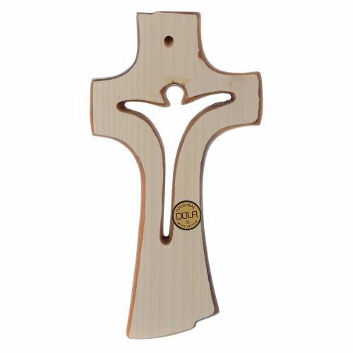 Croix Bethléem en bois érable patiné clair s2