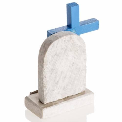 Croix bleue image Vierge de Medjugorje s4