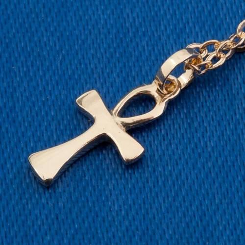 Croix de la Vie collier or 750/00 - 1,30 gr s4