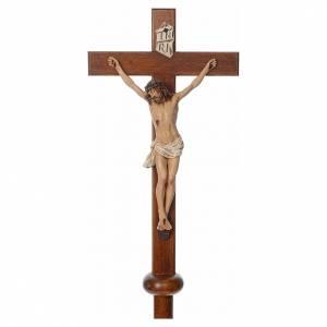Croix de procession en résine et bois 210cm h Landi s3