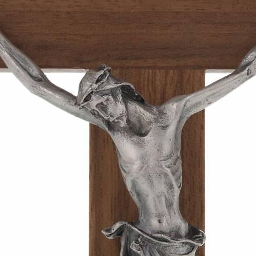 Croix de table en bois de noix décor simili nacre s3