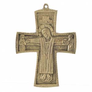 Croix Jésus Grand Prêtre laiton Moines Bethléem 14x10cm s1