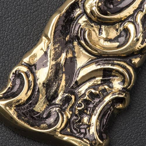Croix pectorale en argent 800 bronzé s4