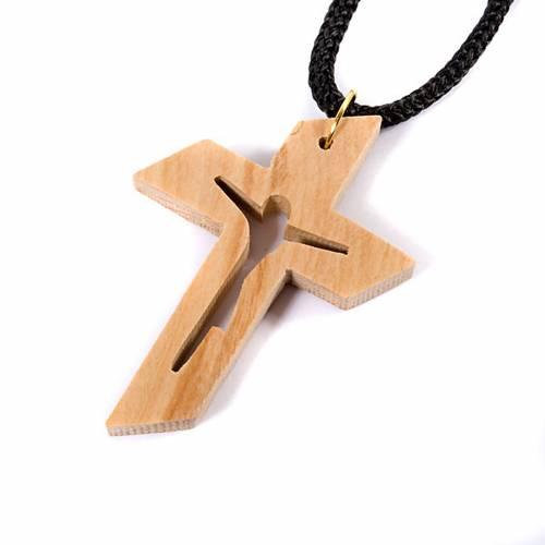 croix pendentif en bois d 39 olivier stylis e vente en ligne sur holyart. Black Bedroom Furniture Sets. Home Design Ideas