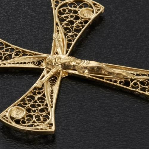 Croix pendentif filigrane d'argent 800 bain d'or 5,4 gr s6